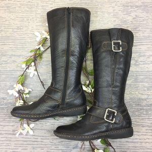 BOC dark brown leather boots